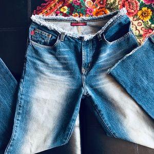 Max Azaria BCBG distressed Jeans